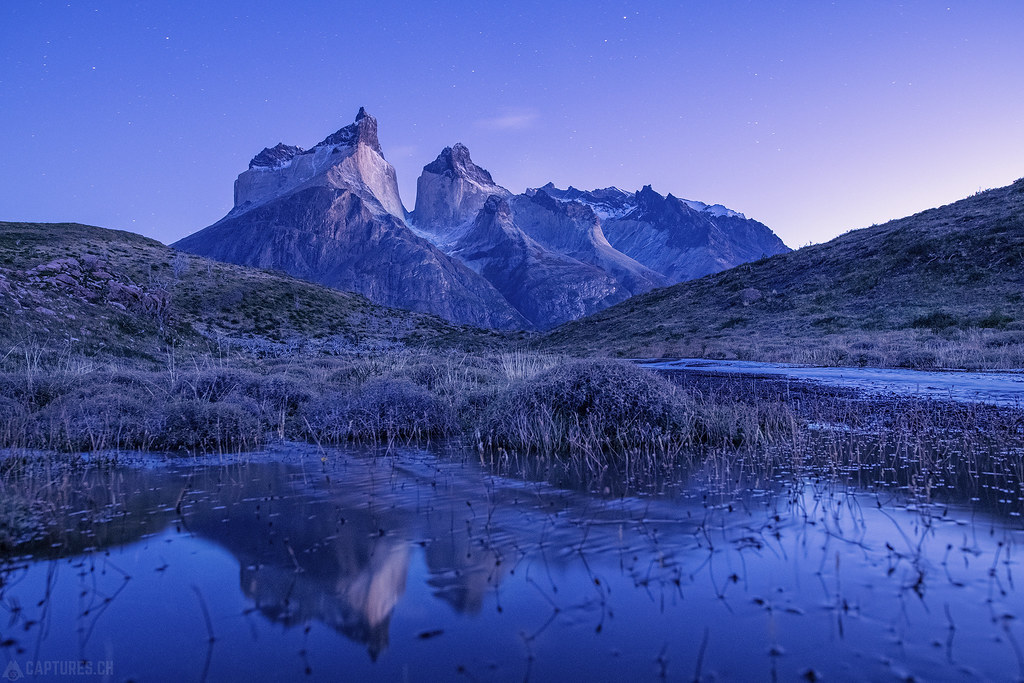 Dawn reflection - Torres del Paine