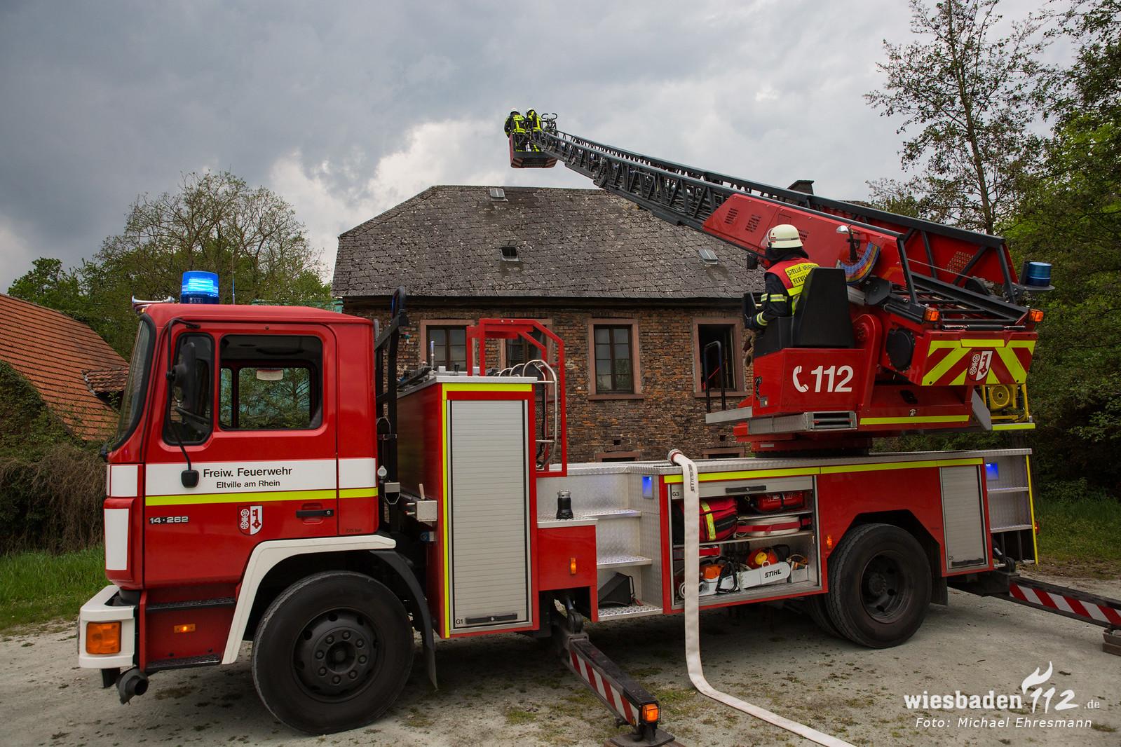 Gebäudebrand Mühle Walluf 24.04.19