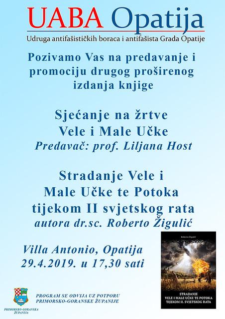 uaba plakat stradanje vele i male učke 2019