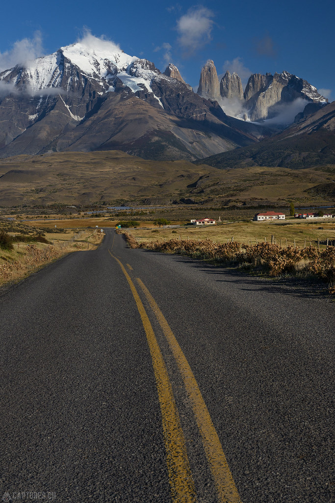 The road in the Parc - Torres del Paine