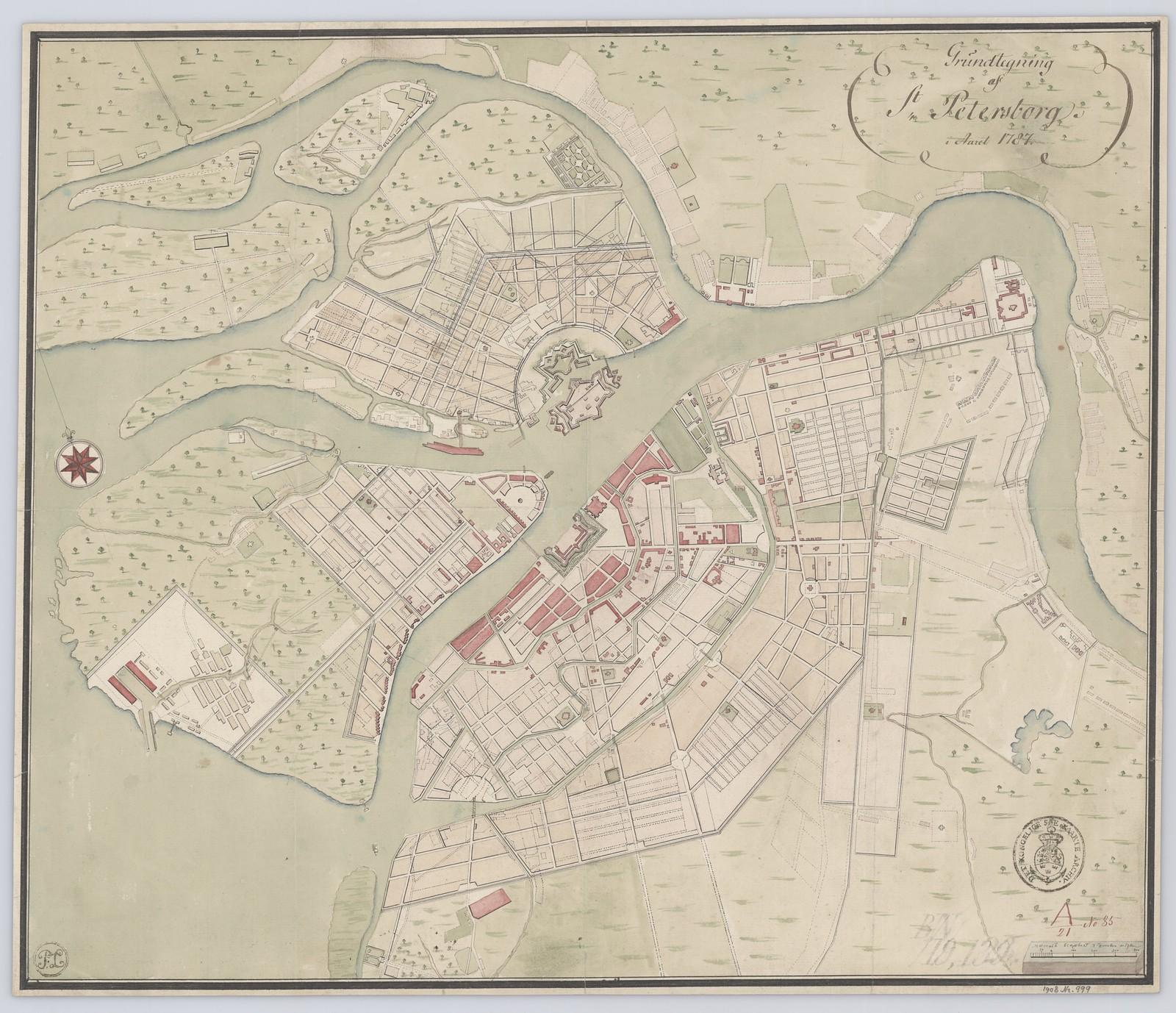 1787. План Санкт-Петербурга