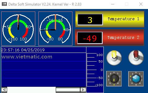 Chương trình mẫu dành cho HMI B03E211  của Delta