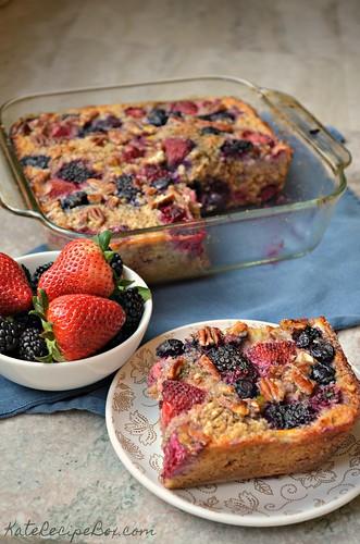 Berry Baked Oatmeal 3 | by katesrecipebox