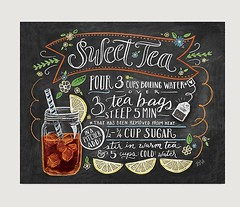 Chalkboard Sign – Art Print – Sweet Tea Recipe Print – Kitchen Decor – Chalkboard Art – Southern Art – Chalk Art