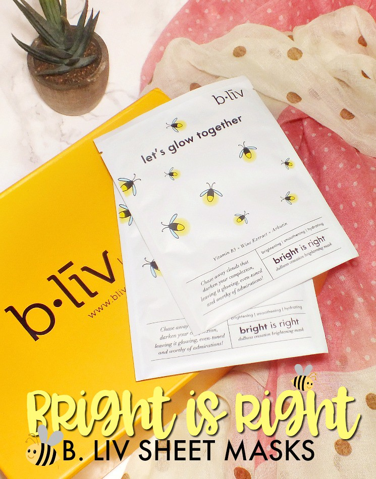 b liv bright is right sheet mask