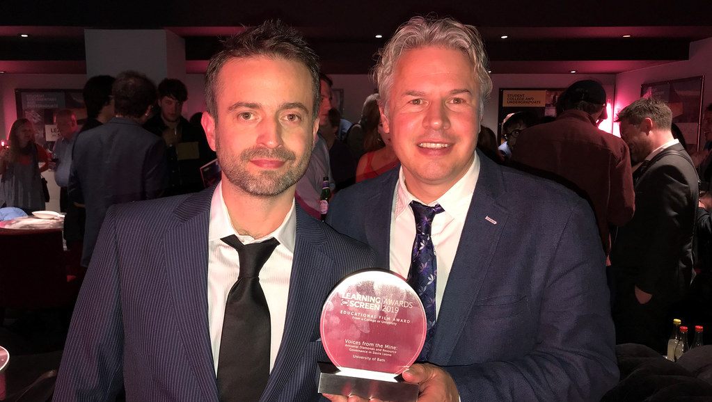 Simon Wharf and Dr Roy Maconachie - winners of the 2019 Learning on Screen Award.