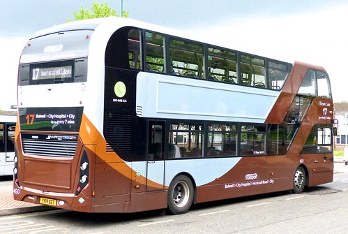 YN19 EET 'Nottingham City Transport' No. 460 'Brown Line 17'. Scania N280UD / Alexander Dennis Ltd. Enviro 400CBG City  on Dennis Basford's railsroadsrunways.blogspot.co.uk'