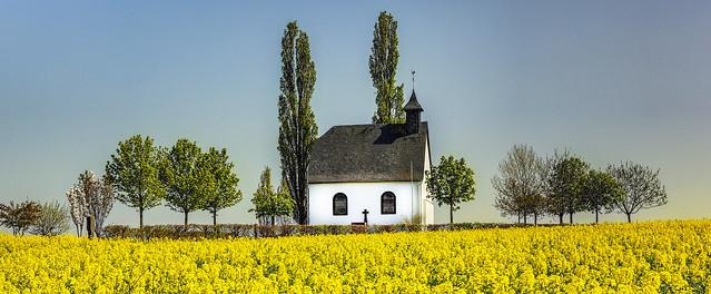 Kapelle am Rapsfeld bei Mertloch/Eifel