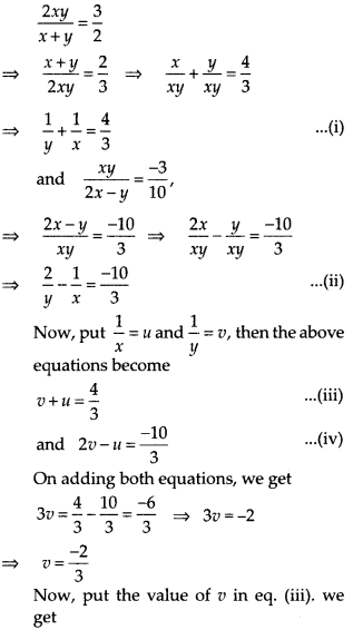 NCERT Exemplar Class 10 Maths Chapter 3 Pair of Linear Equations in Two Variables 3.3 A9e