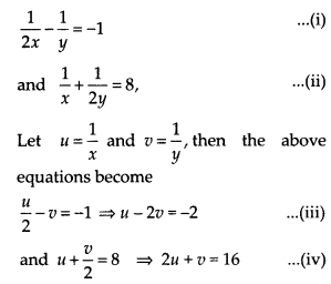 NCERT Exemplar Class 10 Maths Chapter 3 Pair of Linear Equations in Two Variables 3.3 A9c