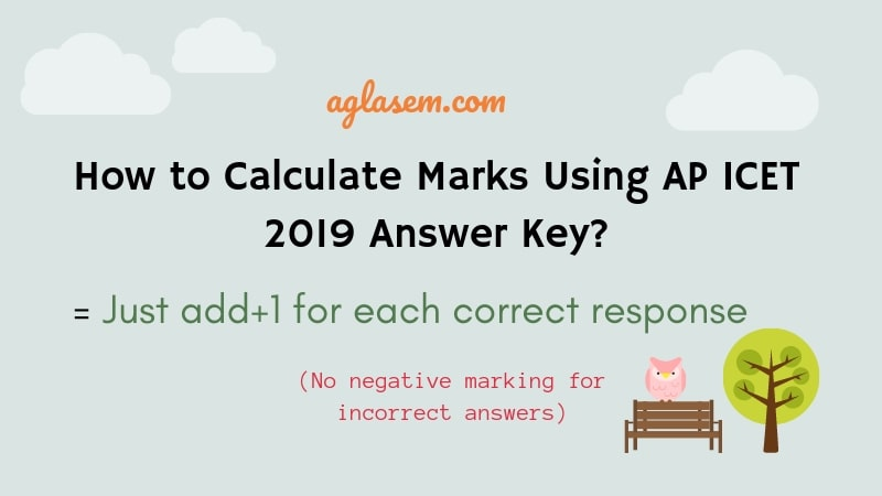 Calculate Marks using AP ICET Answer Key 2019