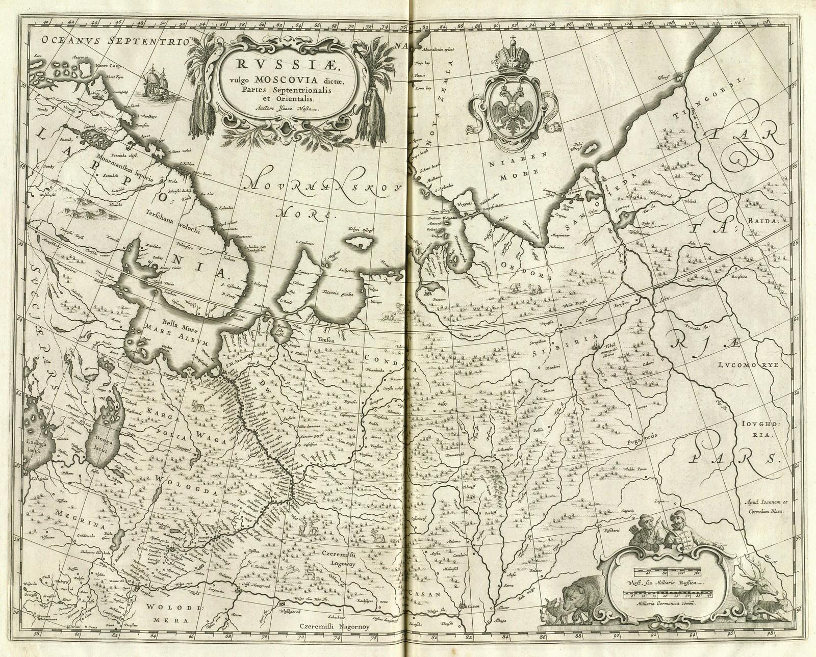 1640-1672. Россия, обычно называемая Московия, части северные и восточные. Исаак Масса, Амстердам