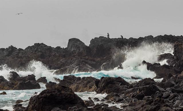 Tenerife - Angler an der Playa de la Arena