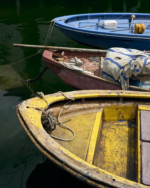 Colorful Boats In Tai O Fishing Village - Hong Kong