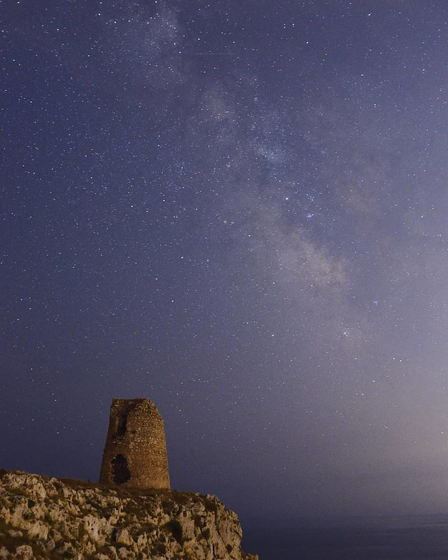 Milky way over Salento