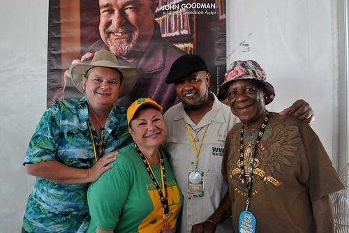 Monk Boudreaux and Action Jackson with Louis Dudoussat  at Jazz Fest