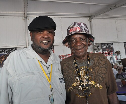 Monk Boudreaux and Action Jackson at Jazz Fest