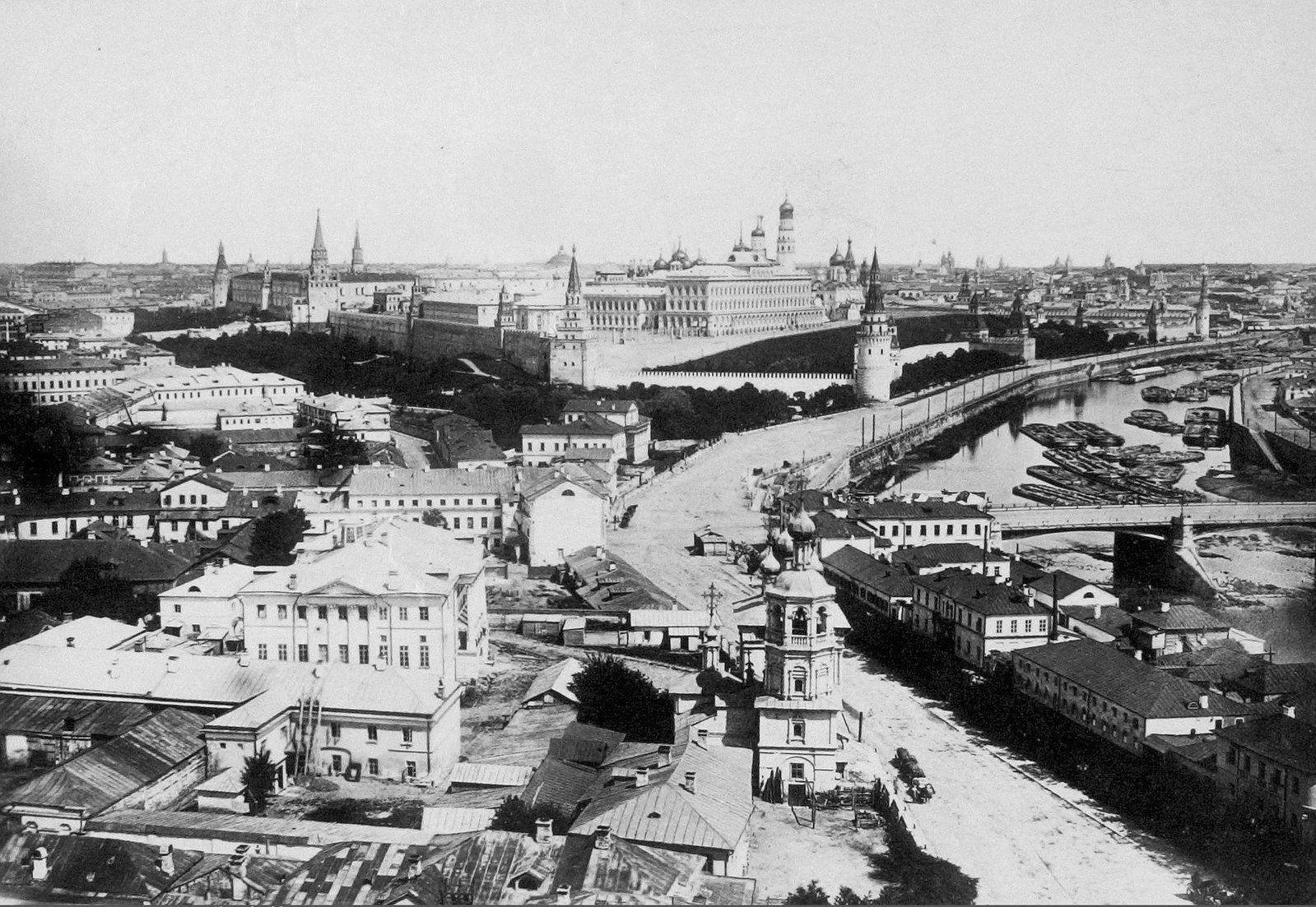 Вид с Храма Христа Спасителя. 1860-е