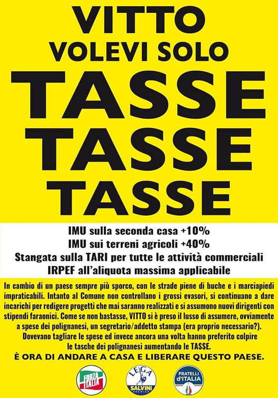 manifesto tasse