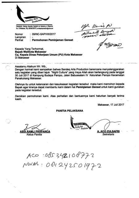 Surat Masuk Juli 2017 Uptd Lampu Jalan Dinas Pu Kota