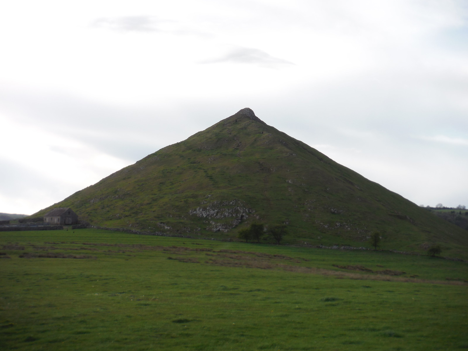 Thorpe Cloud from top of Lin Dale SWC Walk 326 - Dovedale (Ashbourne Circular)