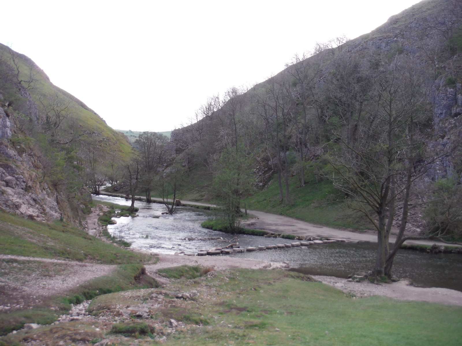 The Stepping Stones across the River Dove, Dovedale SWC Walk 326 - Dovedale (Ashbourne Circular)