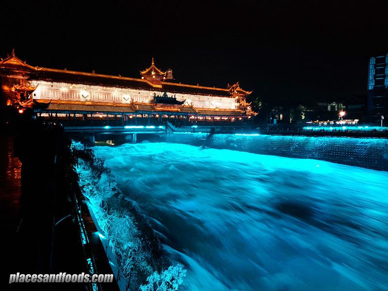 china Du Jiang Yan city blue river