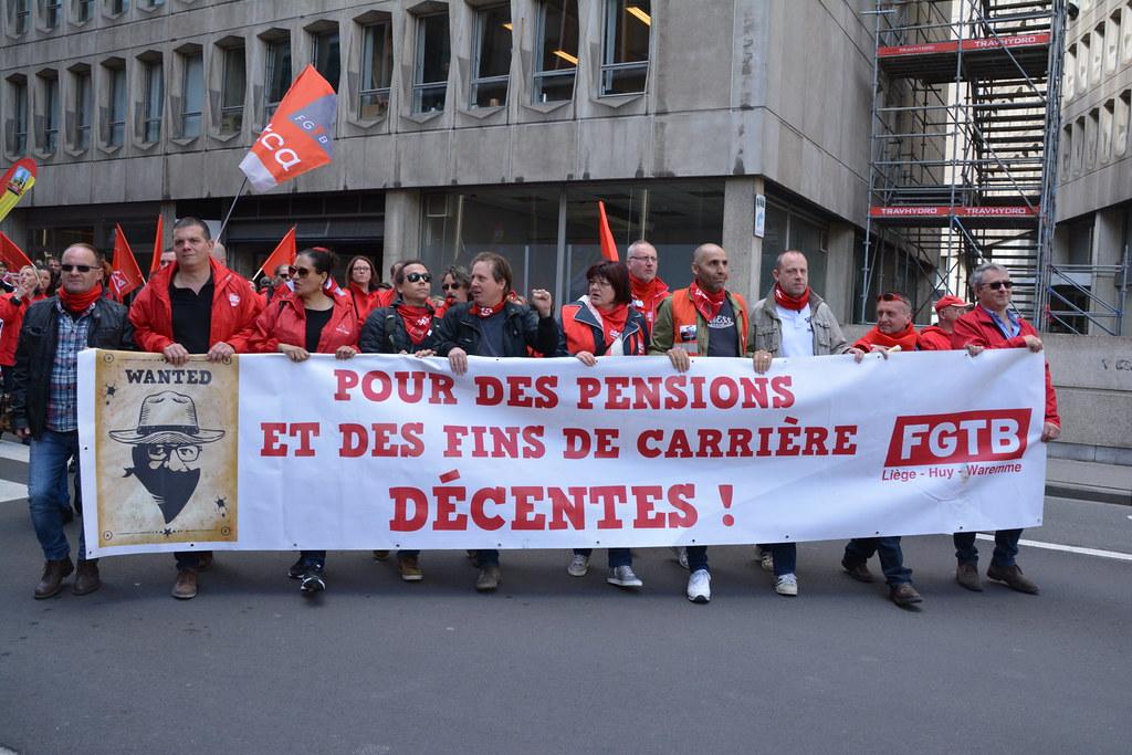 Bruxelles le 26 avril 2019 manifestation pour une Europe plus juste pour les travailleurs