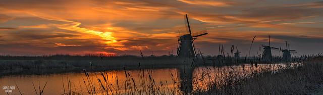 Kinderdijk Windmills at Sunrise II