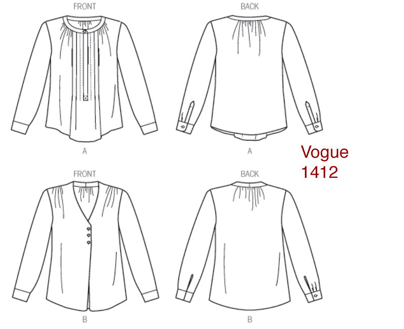 Vogue 1412 line drawing