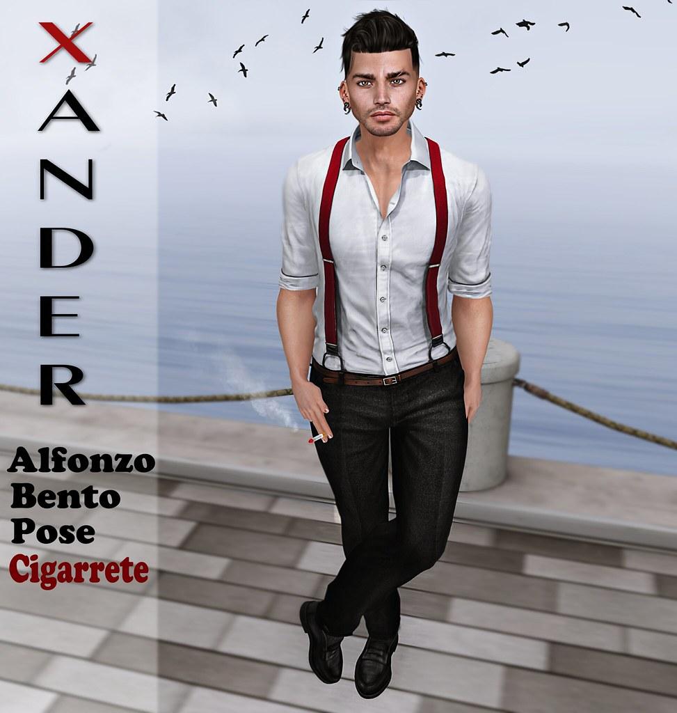 !PROMO! Xander - Alfonzo Cigarette Bento Pose #8 - TeleportHub.com Live!