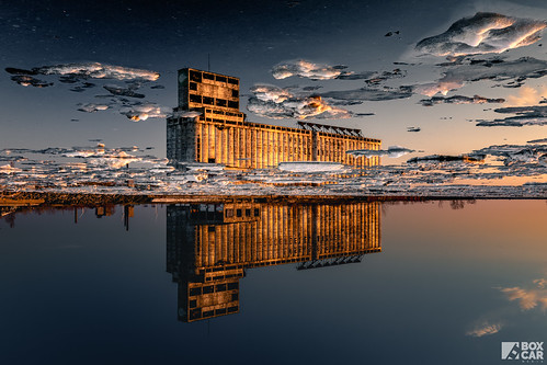 buffalo newyork unitedstatesofamerica invertedreflection reflection river industrial mill nature goldenhour sunset water sky explore ice boxcarmedia ryangaynor photography photographer creative tone lightroom rustbelt grainelevator bevisuallyinspired