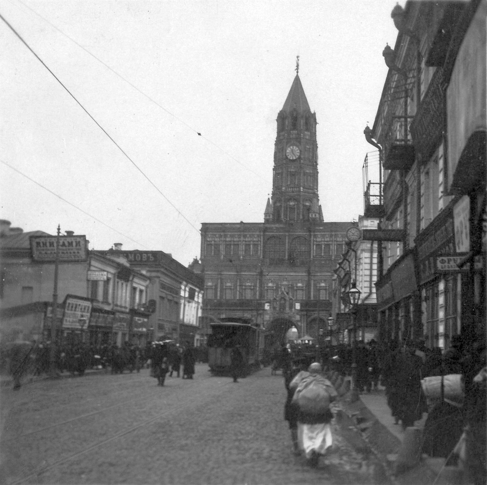 Улица Сретенка. Сухарева башня. 1910-е