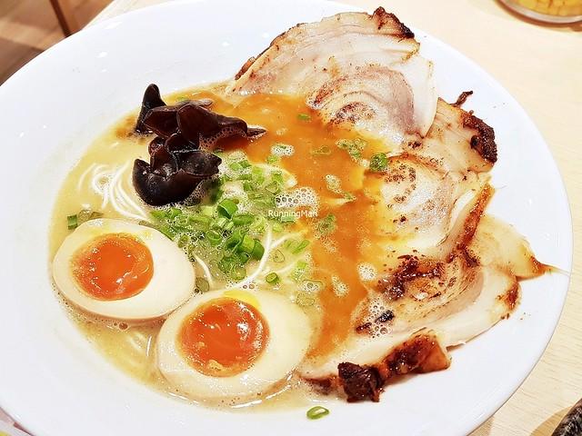 Special Chashu Garlic Tonkotsu Ramen With Ajitama Egg