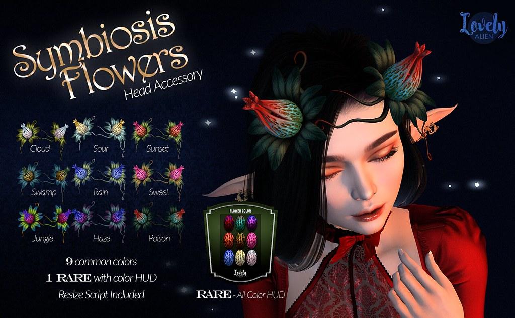 Symbiosis Flower Horns For:  Gacha Garden - TeleportHub.com Live!