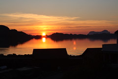 Solnedgang på Hersvik