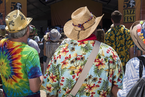 Audience at Jazz Fest day 3 on April 27, 2019. Photo by Ryan Hodgson-Rigsbee RHRphoto.com