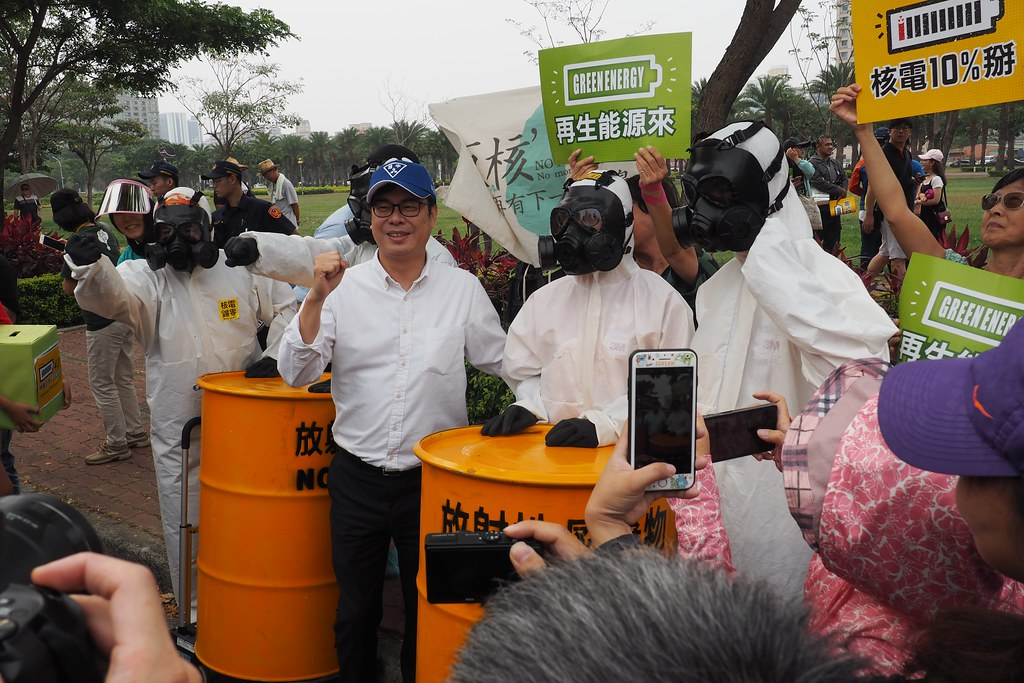 行政院副院長陳其邁出現在2019南台灣廢核遊行。攝影:李育琴。