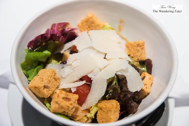 Steakhouse salad - Herb vinaigrette, roasted artichokes, Kalamata olives, shaved Parmesan cheese