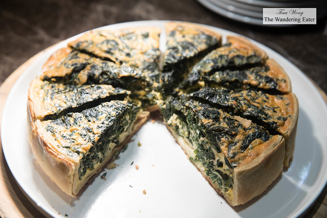 Spinach quiche at JW Cafe