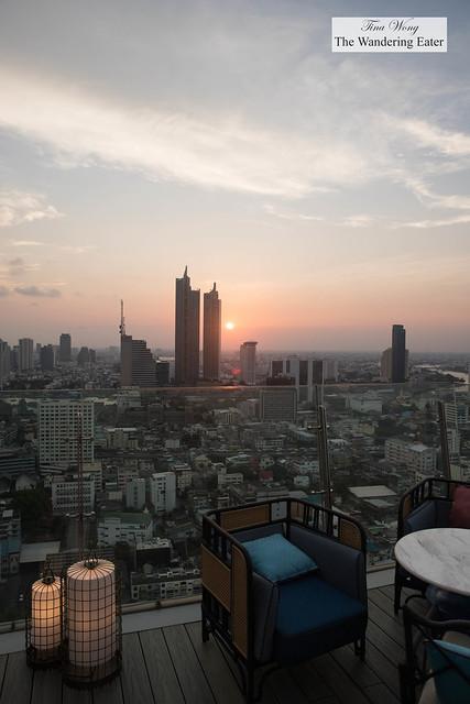 Sunset views at Yao Rooftop Bar