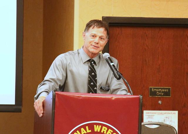 2019 National Wrestling Hall of Fame, Minnesota Chapter Lifetime Service inductee Randy Baker. 190427AJF0037