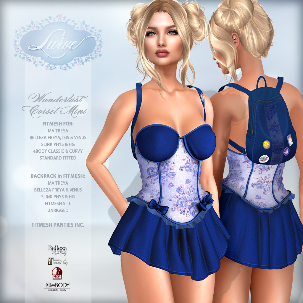 *Lurve* Wanderlust Corset Mini in Blue