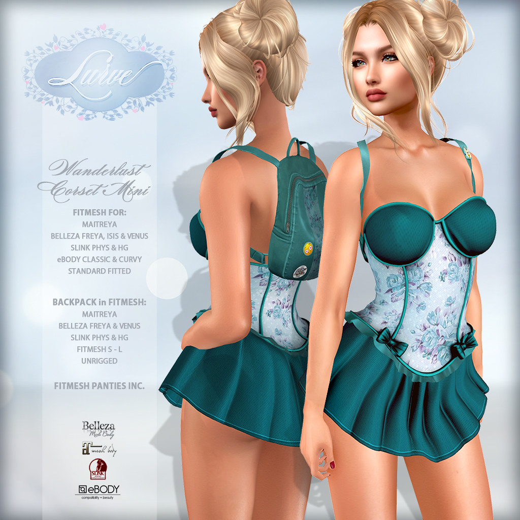 *Lurve* Wanderlust Corset Mini in Teal
