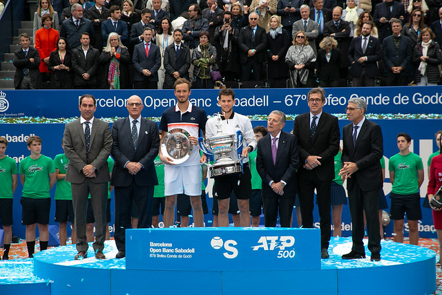 Dominic Thiem and Daniil Medvedev, Barcelona Open 2019