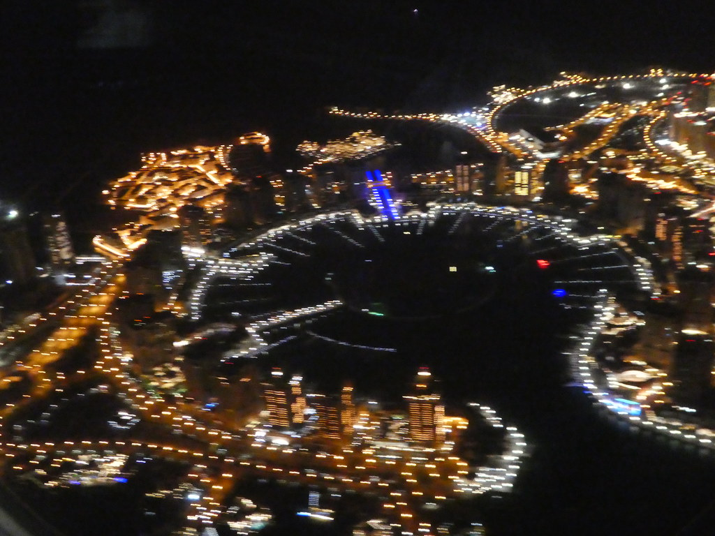 View of The Pearl, Qatar from our aircraft window