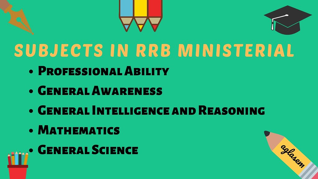 RRB Ministerial Subjects 2019