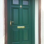 Traditional Paneled door Green