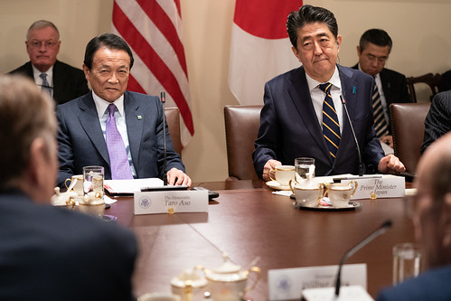 Prime Minister Shinzo Abe of Japan Visits the White House