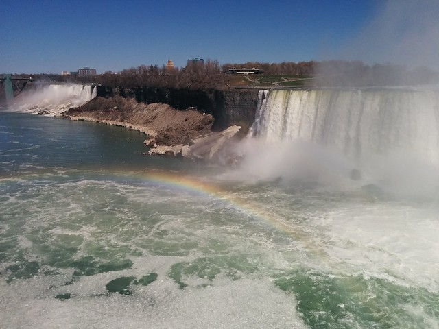 Permanent rainbow #niagarafalls #americanfalls #horseshoefalls #niagarariver #rainbow